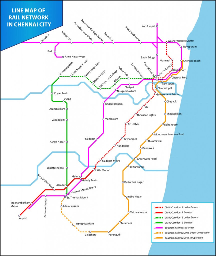 Subway Map 1 Train Route.Chennai Metro ச ன ன ம ட ர ரய ல Skyscrapercity
