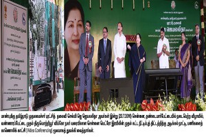 The Hon'ble Chief Minister of Tamil Nadu Selvi J JAYALALITHAA laid the foundation stone for the Phase I Extension of the Chennai Metro Rail Project from Washermanpet to Tiruvottiyur/Wimco Nagar on 23.07.16.