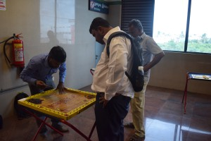 The Month-Long Traditional Games event in Arumbakkam Metro station.